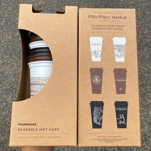 ✨🆕✨2x Starbucks Pike Place Grande Hot Cups 6 Pack